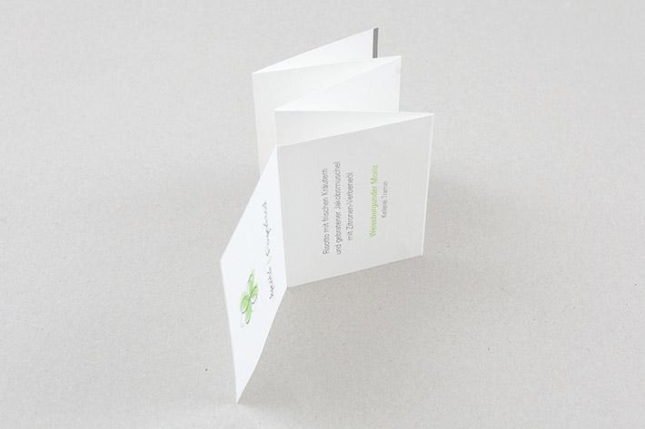 Mehrseitige Einladungskarte