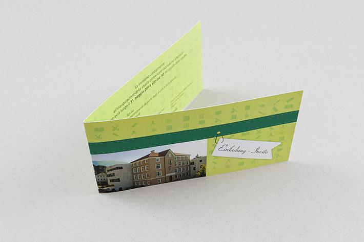 Einladungskarte im Format 21 x 10,5 cm