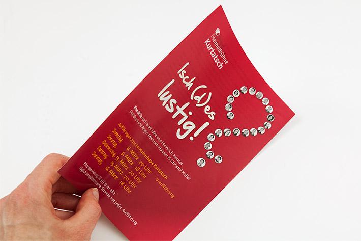 Flyer für Theaterstück