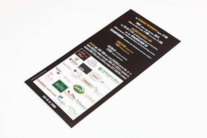 Rückseite mit Sponsorenauflistung