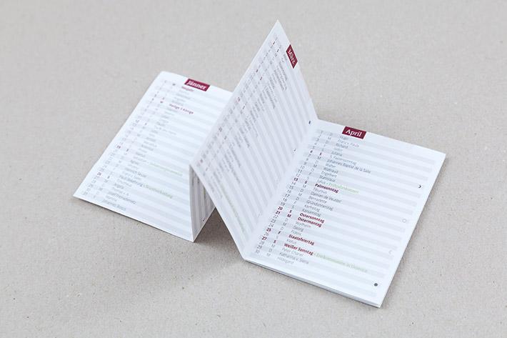 Taschenkalender im Format 6,5 x 8,5 cm