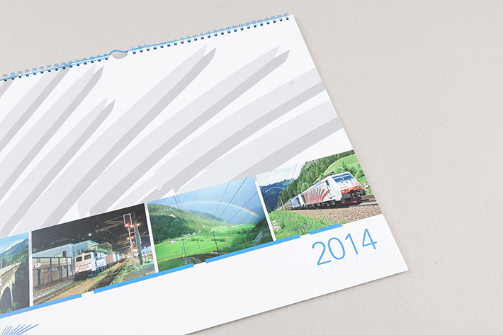 Kalender Lokomotion im format 44 x 34 cm.