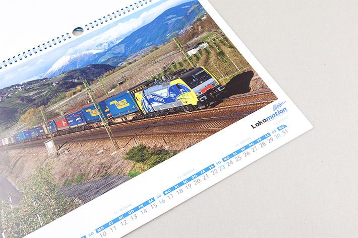 VG Bahn Kalender Lokomoiton