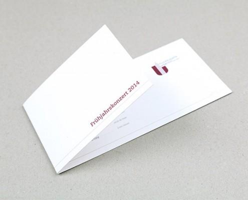 Einladungskarte zum Frühjahrskonzert