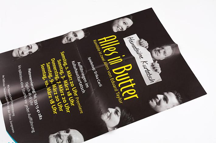 Theateraufführung Plakat