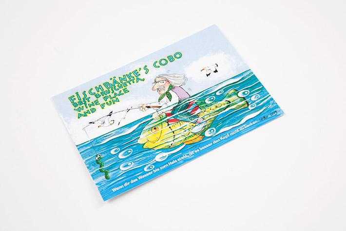 Postkarte im Format 14,8 x 10,5 cm