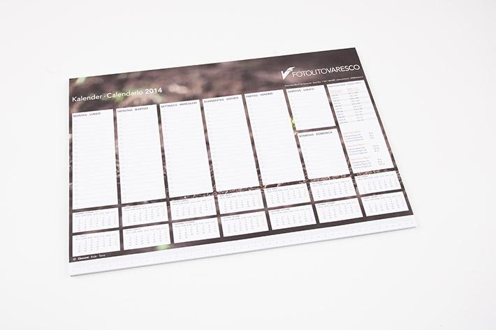 Großformatiger Tischkalender