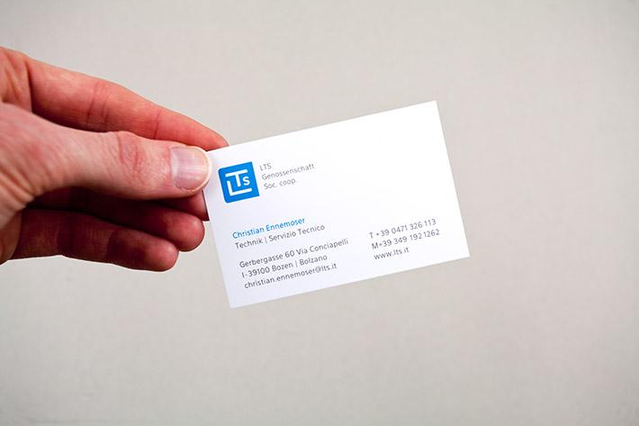 Visitenkarte auf Bilderdruck matt Papier