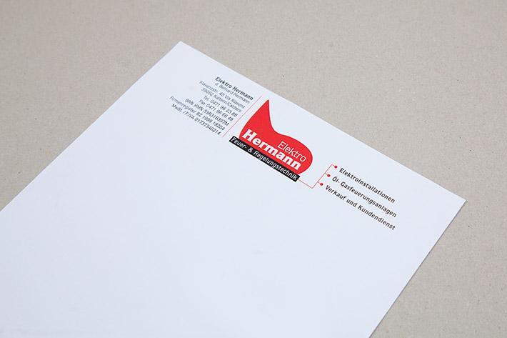 Das Briefpapier wurde im Format A4 gedruckt